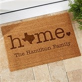 Home State Personalized Coir Doormat- 18x27 - 19817