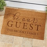 Be Our Guest Personalized Coir Doormat- 18x27 - 19821