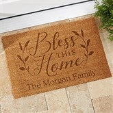 Bless This Home Personalized Coir Doormat- 18x27 - 19822