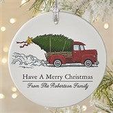 Classic Christmas Vintage Truck Premium Ornament - 19826