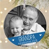 Grandparents Established Personalized Premium Photo Ornament - 19831