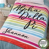 Alpha Delta Pi Personalized 60x80 Fleece Blanket - 19834-L