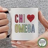 Chi Omega Personalized Coffee Mug 11 oz.- Black - 19835-B