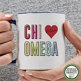 Chi Omega Personalized Coffee Mug 11 oz.- Blue - 19835-BL