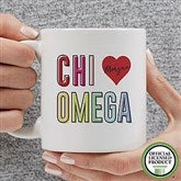 Chi Omega Personalized Coffee Mug 11 oz.- White - 19835-S