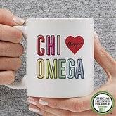 Chi Omega Personalized Coffee Mug 11 oz.- White - 19835-S