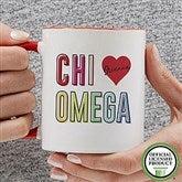 Chi Omega Personalized Coffee Mug 11 oz.- Red - 19835-R