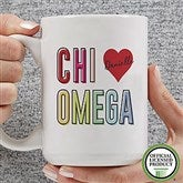 Chi Omega Personalized Coffee Mug 15 oz.- White - 19835-L