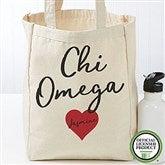 Chi Omega Personalized Petite Tote Bag - 19836