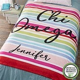 Chi Omega Personalized 60x80 Fleece Blanket - 19838-L