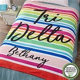 Delta Delta Delta Personalized 60x80 Fleece Blanket - 19842-L
