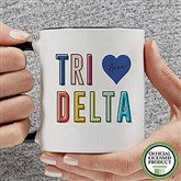 Delta Delta Delta Personalized Coffee Mug 11 oz.- Black - 19843-B