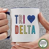 Delta Delta Delta Personalized Coffee Mug 11 oz.- Blue - 19843-BL