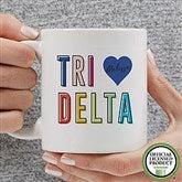 Delta Delta Delta Personalized Coffee Mug 11 oz.- White - 19843-S