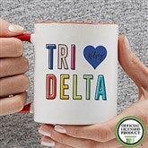 Delta Delta Delta Personalized Coffee Mug 11 oz.- Red - 19843-R