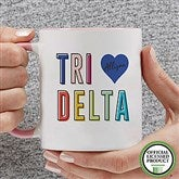 Delta Delta Delta Personalized Coffee Mug 11 oz.- Pink - 19843-P