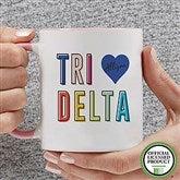 Delta Delta Delta Personalized Coffee Mug 11 oz.- Pink - 19843-P