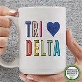 Delta Delta Delta Personalized Coffee Mug 15 oz.- White - 19843-L