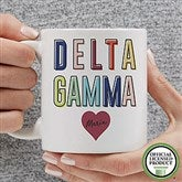 Delta Gamma Personalized Coffee Mug 11 oz.- White - 19846-S