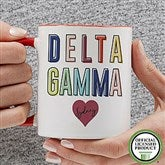 Delta Gamma Personalized Coffee Mug 11 oz.- Red - 19846-R