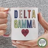 Delta Gamma Personalized Coffee Mug 11 oz.- Pink - 19846-P