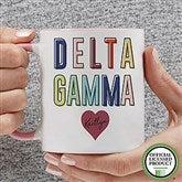 Delta Gamma Personalized Coffee Mug 11 oz.- Pink - 19846-P