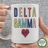 Delta Gamma Personalized Coffee Mug 15 oz.- White - 19846-L