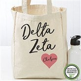 Delta Zeta Personalized Petite Tote Bag - 19848