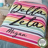 Delta Zeta Personalized 60x80 Fleece Blanket - 19850-L