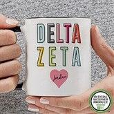 Delta Zeta Personalized Coffee Mug 11 oz.- Black - 19851-B