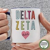 Delta Zeta Personalized Coffee Mug 11 oz.- Blue - 19851-BL