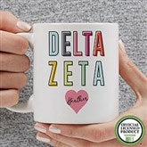 Delta Zeta Personalized Coffee Mug 11 oz.- White - 19851-S