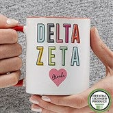Delta Zeta Personalized Coffee Mug 11 oz.- Red - 19851-R