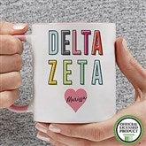 Delta Zeta Personalized Coffee Mug 11 oz.- Pink - 19851-P
