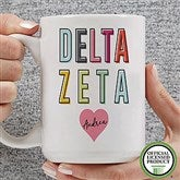 Delta Zeta Personalized Coffee Mug 15 oz.- White - 19851-L