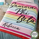 Gamma Phi Beta Personalized 60x80 Fleece Blanket - 19854-L