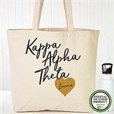 Kappa Alpha Theta Personalized Tote Bag - 19857