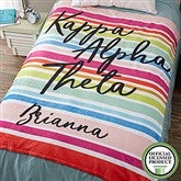 Kappa Alpha Theta Personalized 60x80 Fleece Blanket - 19858-L