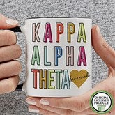 Kappa Alpha Theta Personalized Coffee Mug 11 oz.- Black - 19859-B