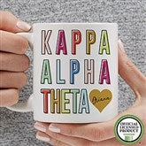 Kappa Alpha Theta Personalized Coffee Mug 11 oz.- White - 19859-S