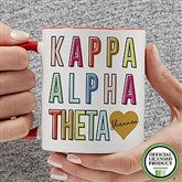 Kappa Alpha Theta Personalized Coffee Mug 11 oz.- Red - 19859-R
