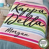 Kappa Delta Personalized 50x60 Fleece Blanket - 19862