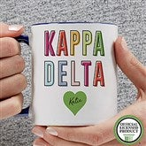 Kappa Delta Personalized Coffee Mug 11 oz.- Blue - 19863-BL