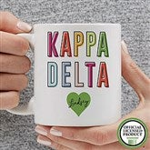 Kappa Delta Personalized Coffee Mug 11 oz.- White - 19863-S