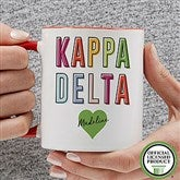 Kappa Delta Personalized Coffee Mug 11 oz.- Red - 19863-R