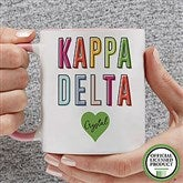Kappa Delta Personalized Coffee Mug 11 oz.- Pink - 19863-P