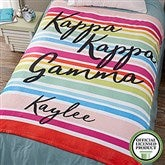 Kappa Kappa Gamma Personalized 60x80 Fleece Blanket - 19866-L