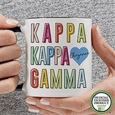 Kappa Kappa Gamma Personalized Coffee Mug 11 oz.- Black - 19867-B