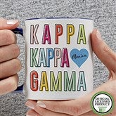 Kappa Kappa Gamma Personalized Coffee Mug 11 oz.- Blue - 19867-BL