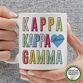 Kappa Kappa Gamma Personalized Coffee Mug 11 oz.- White - 19867-S